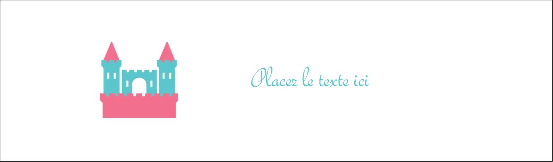 "3½"" x 11"" Affichette - Château"