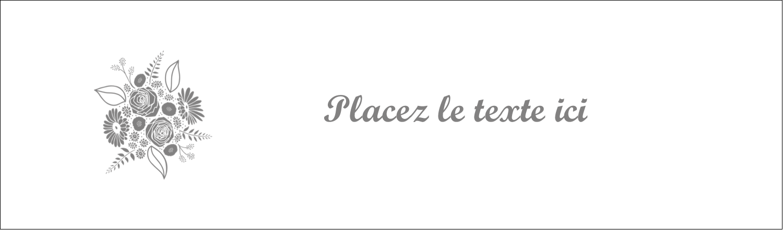 """3½"""" x 11"""" Affichette - Bouquet de fleurs"""