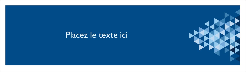 """3½"""" x 11"""" Affichette - Angles bleus"""