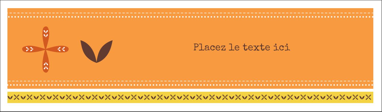 """3½"""" x 11"""" Affichette - Fleurs orange géométriques"""