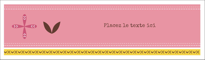 """3½"""" x 11"""" Affichette - Fleurs roses géométriques"""