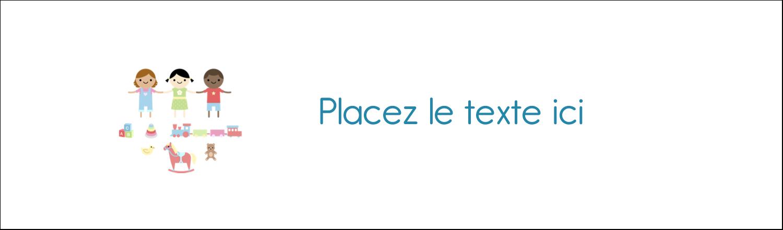 """3½"""" x 11"""" Affichette - Éducation et préscolaire"""