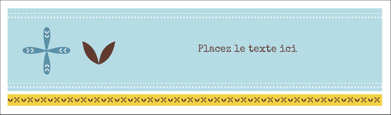 """3½"""" x 11"""" Affichette - Bain bleu"""