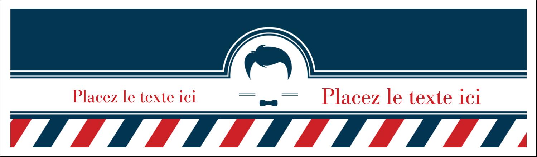"""3½"""" x 11"""" Affichette - Salon de barbier"""
