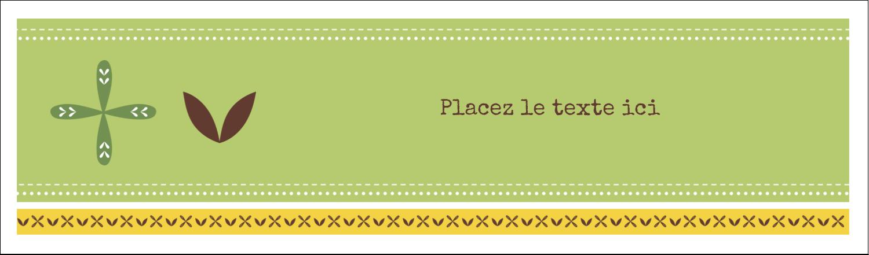"""3½"""" x 11"""" Cartes Pour Le Bureau - Fleurs vertes géométriques"""
