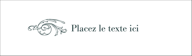 """3½"""" x 11"""" Affichette - Cachet français"""