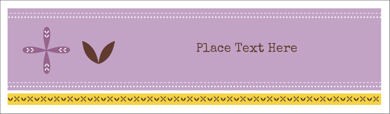 "2½"" x 8½"" Tent Card - Geometric Lavender Blossoms"