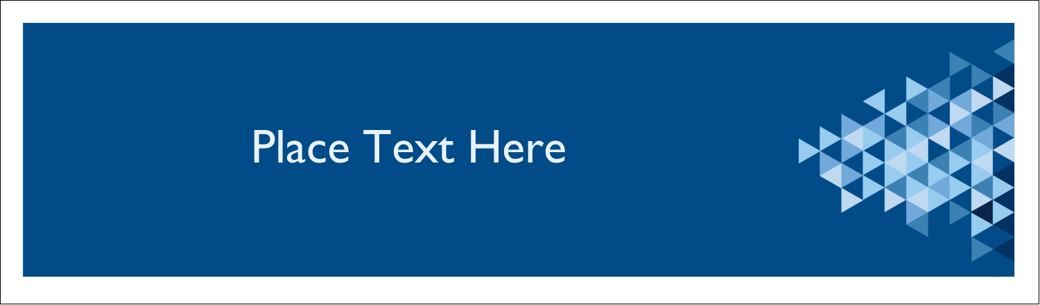 """2½"""" x 8½"""" Tent Card - Blue Angles"""