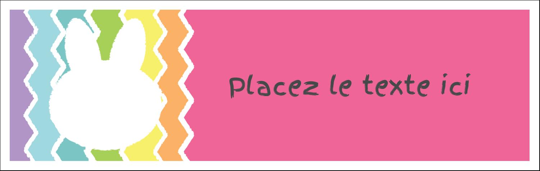 """4¼"""" x 5½"""" Carte de note - Lapin Bonbon"""