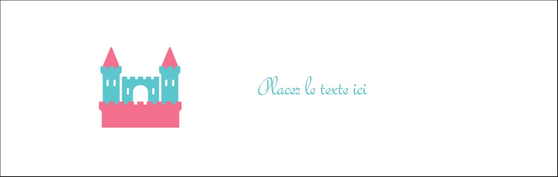 """4¼"""" x 5½"""" Carte de note - Château"""