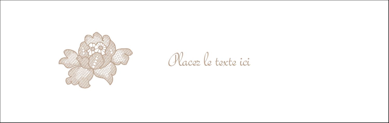 """4¼"""" x 5½"""" Carte de note - Dentelle de jute"""