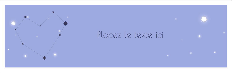 """4¼"""" x 5½"""" Carte de note - Étoiles d'anniversaire"""