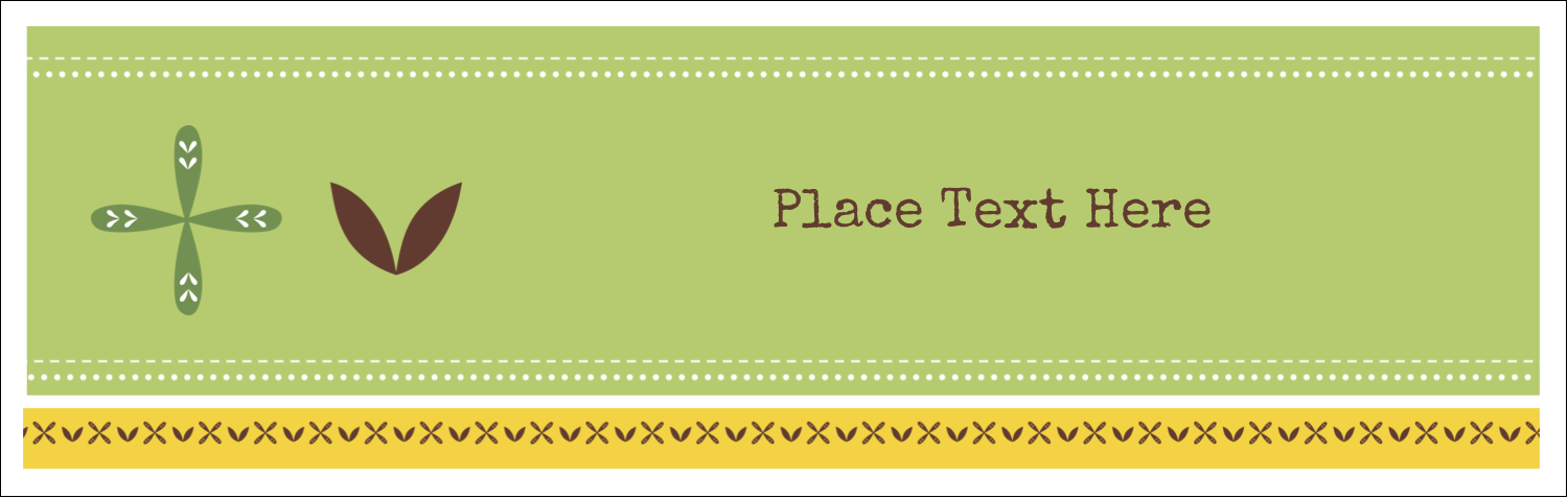 "3½"" x 11"" Tent Card - Geometric Green Blossoms"