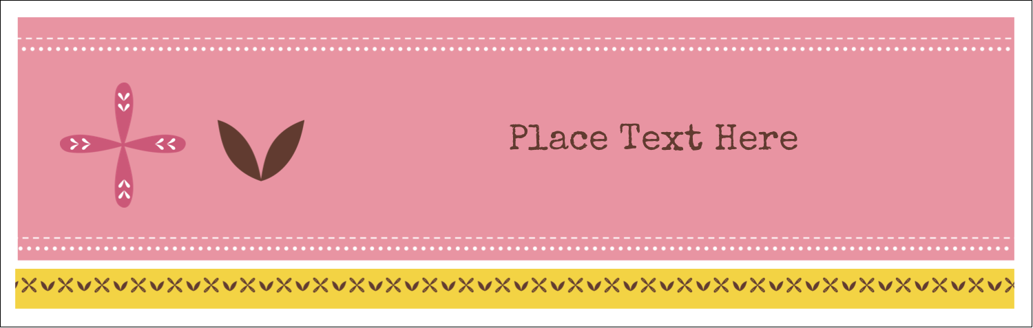 "3½"" x 11"" Tent Card - Geometric Pink Blossoms"