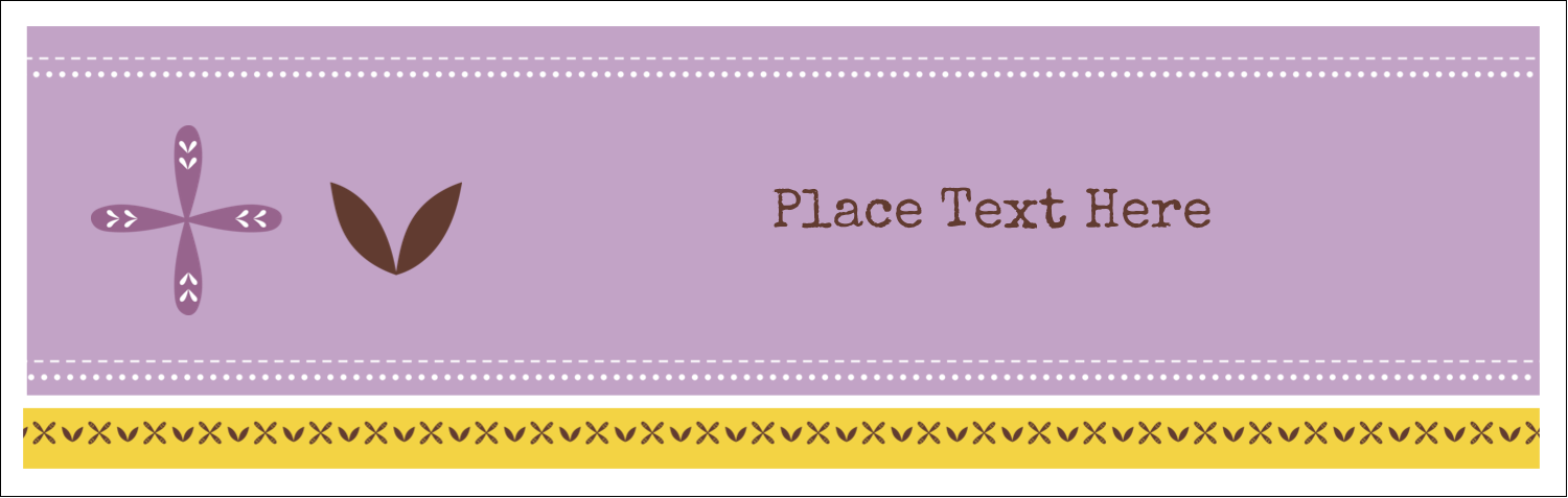 "3½"" x 11"" Tent Card - Geometric Lavender Blossoms"