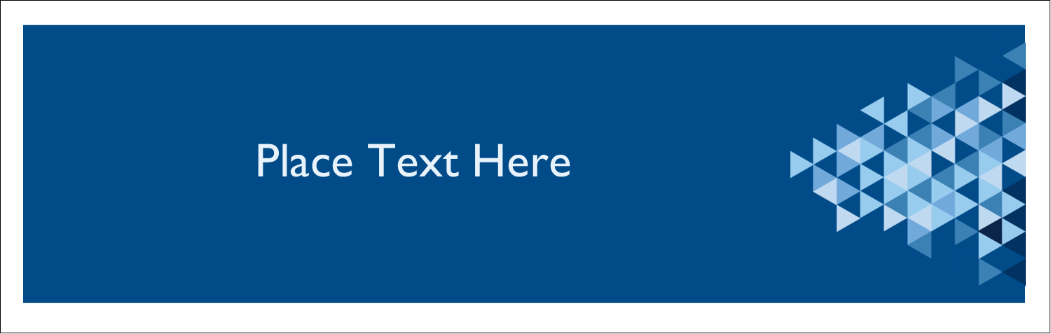 """3½"""" x 11"""" Tent Card - Blue Angles"""