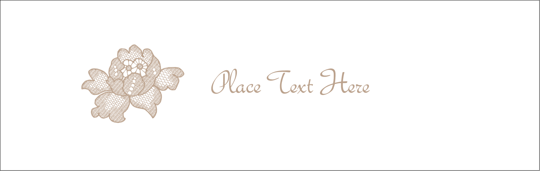 """3½"""" x 11"""" Tent Card - Burlap Lace"""