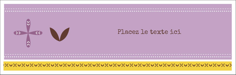 """4¼"""" x 5½"""" Carte de note - Lavande géométrique"""