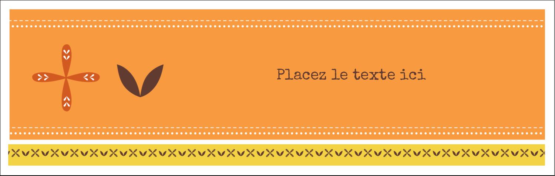 """4¼"""" x 5½"""" Carte de note - Fleurs orange géométriques"""