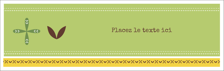 """4¼"""" x 5½"""" Cartes Pour Le Bureau - Fleurs vertes géométriques"""