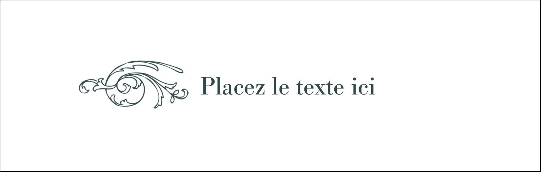 """4¼"""" x 5½"""" Carte de note - Cachet français"""