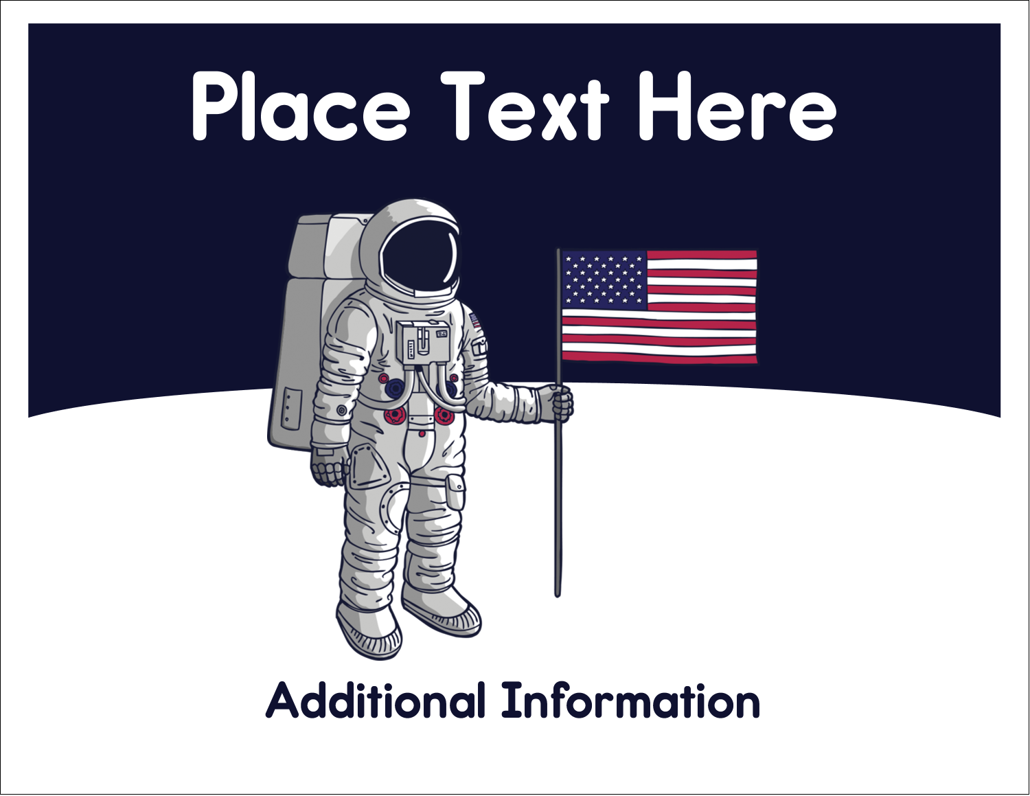 """5½"""" x 4¼"""" Note Card - Astronaut"""