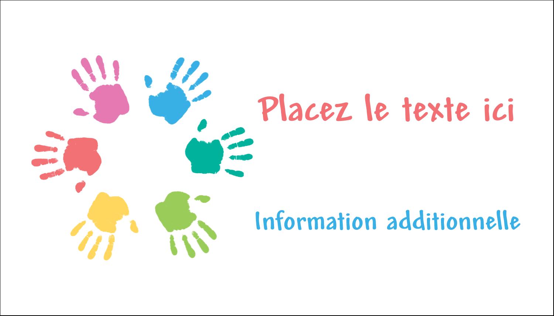 """2"""" x 3½"""" Carte d'affaire - Mains enfantines"""