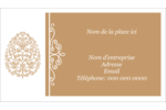 Œuf de Pâques de couleur bronze Carte d'affaire - gabarit prédéfini. <br/>Utilisez notre logiciel Avery Design & Print Online pour personnaliser facilement la conception.