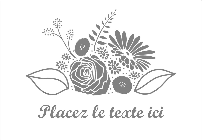 """1¼"""" Étiquettes à codage couleur - Bouquet de fleurs"""