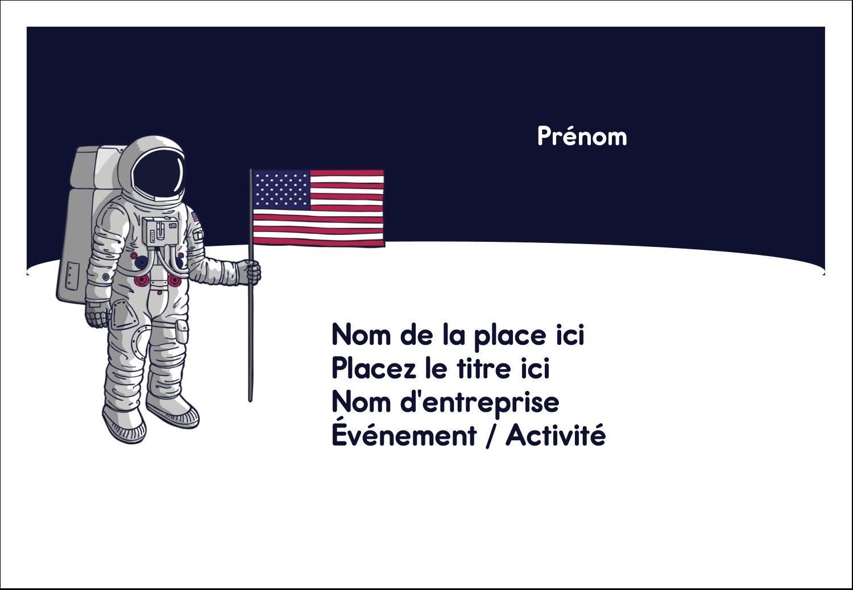 """1¼"""" Étiquettes à codage couleur - Astronaute"""