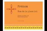 Fleurs orange géométriques Badges - gabarit prédéfini. <br/>Utilisez notre logiciel Avery Design & Print Online pour personnaliser facilement la conception.