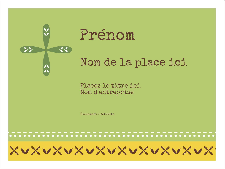 """3"""" x 4"""" Badges - Fleurs vertes géométriques"""