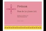 Fleurs roses géométriques Badges - gabarit prédéfini. <br/>Utilisez notre logiciel Avery Design & Print Online pour personnaliser facilement la conception.