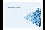 Angles bleus  Badges - gabarit prédéfini. <br/>Utilisez notre logiciel Avery Design & Print Online pour personnaliser facilement la conception.