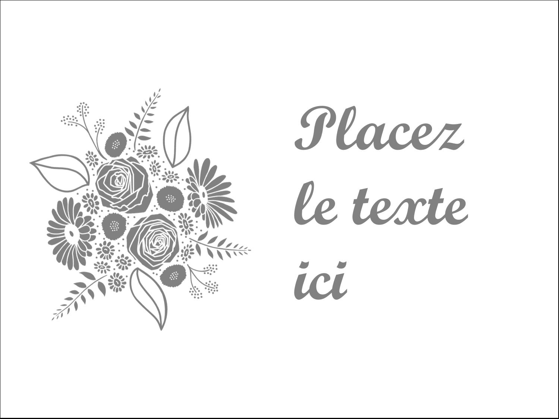 """3"""" x 4"""" Badges - Bouquet de fleurs"""