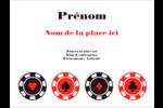 Partie de poker Badges - gabarit prédéfini. <br/>Utilisez notre logiciel Avery Design & Print Online pour personnaliser facilement la conception.
