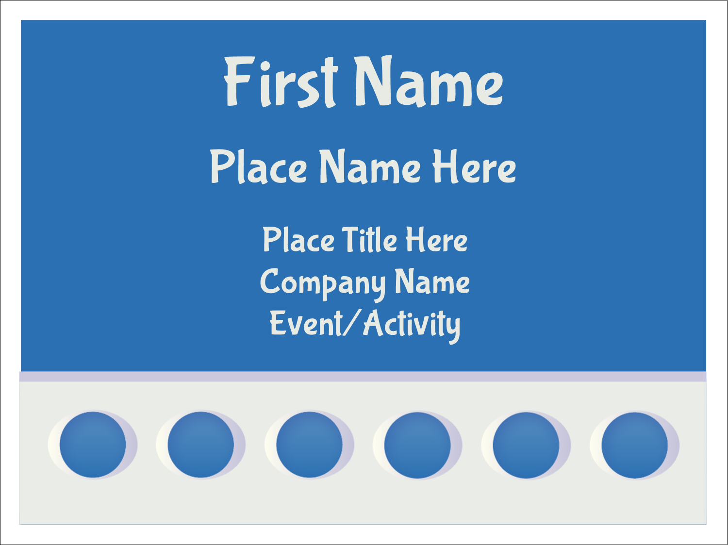 "3"" x 4"" Name Tags - 4th Floor"
