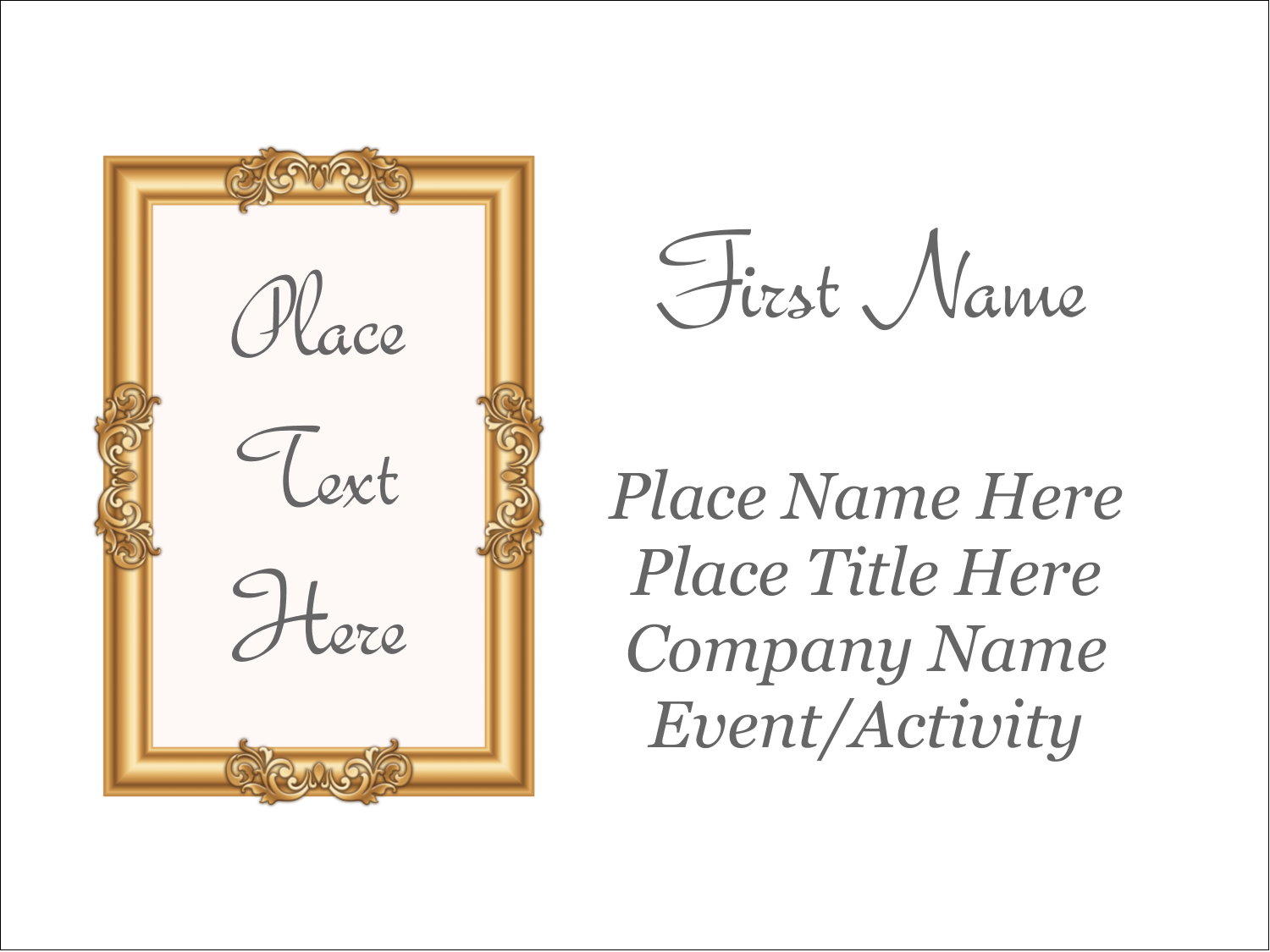 "3"" x 4"" Name Tags - Art Gallery"