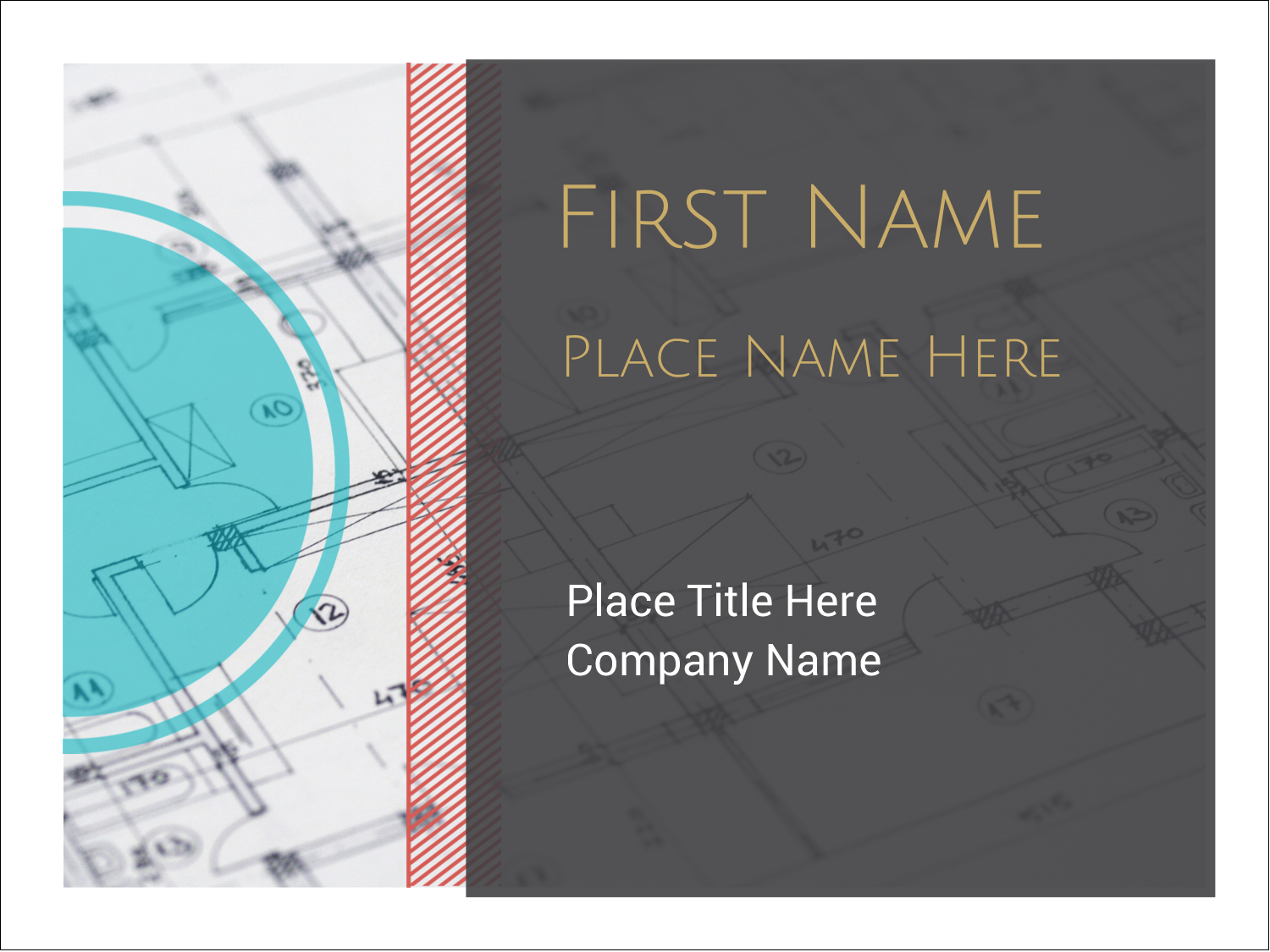 "3"" x 4"" Name Tags - Architecture"