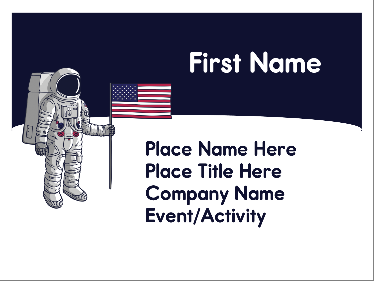"3"" x 4"" Name Tags - Astronaut"