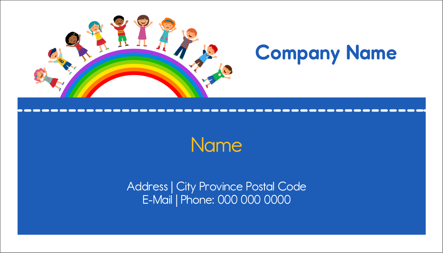 "2"" x 3½"" Business Card - Childcare Education"