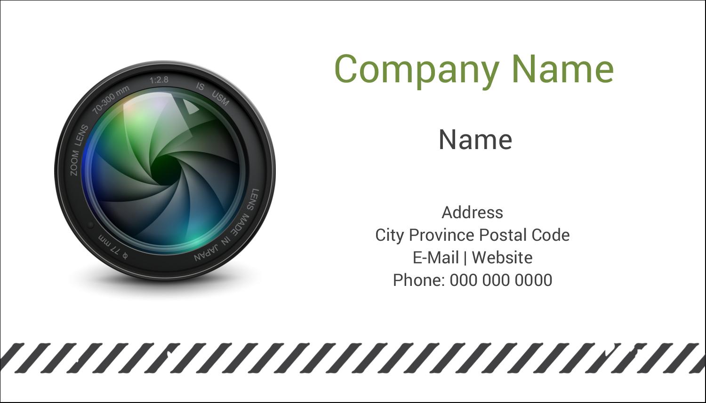 """2"""" x 3½"""" Business Card - Camera Lens"""