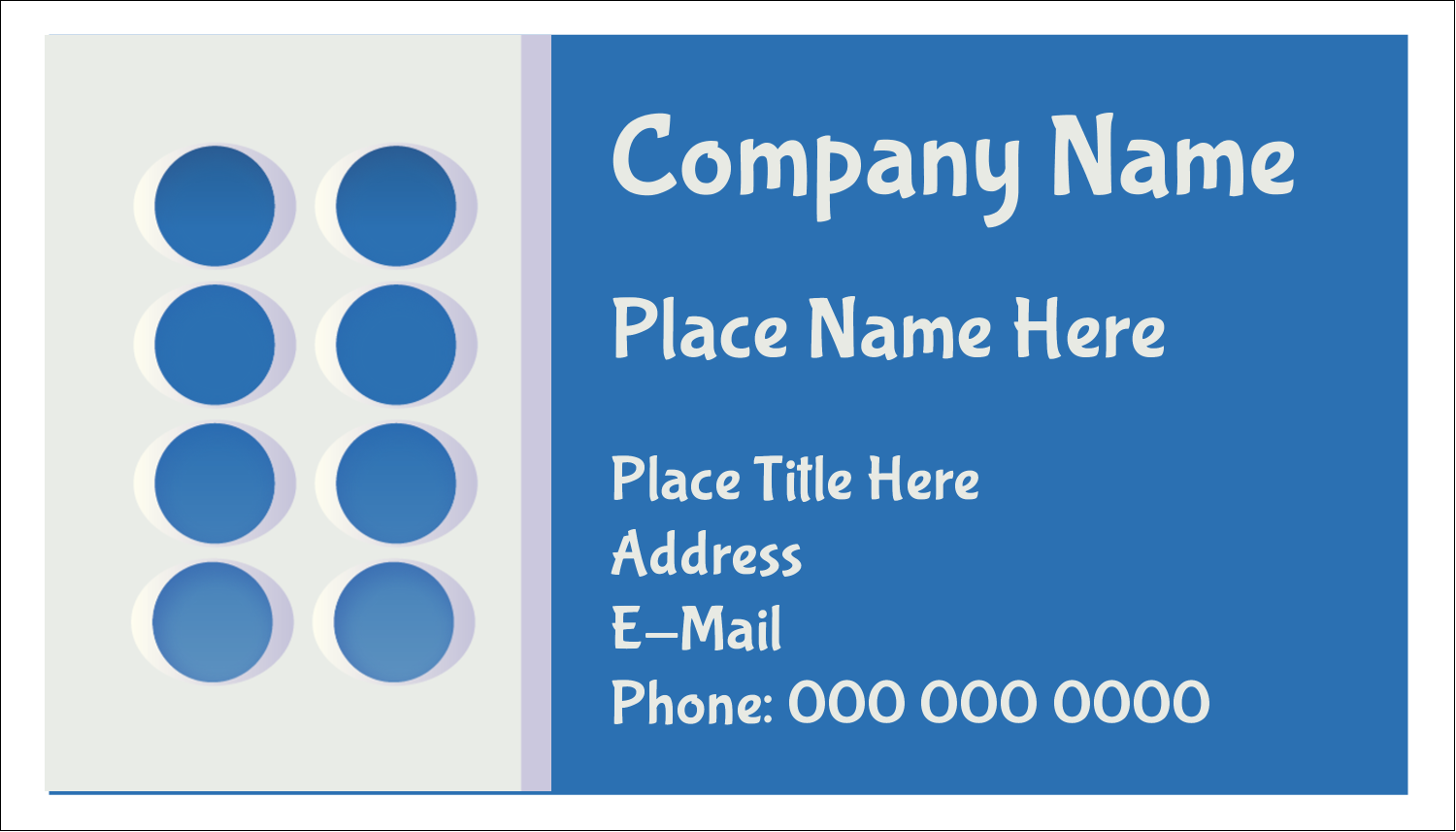 "2"" x 3½"" Business Card - 4th Floor"