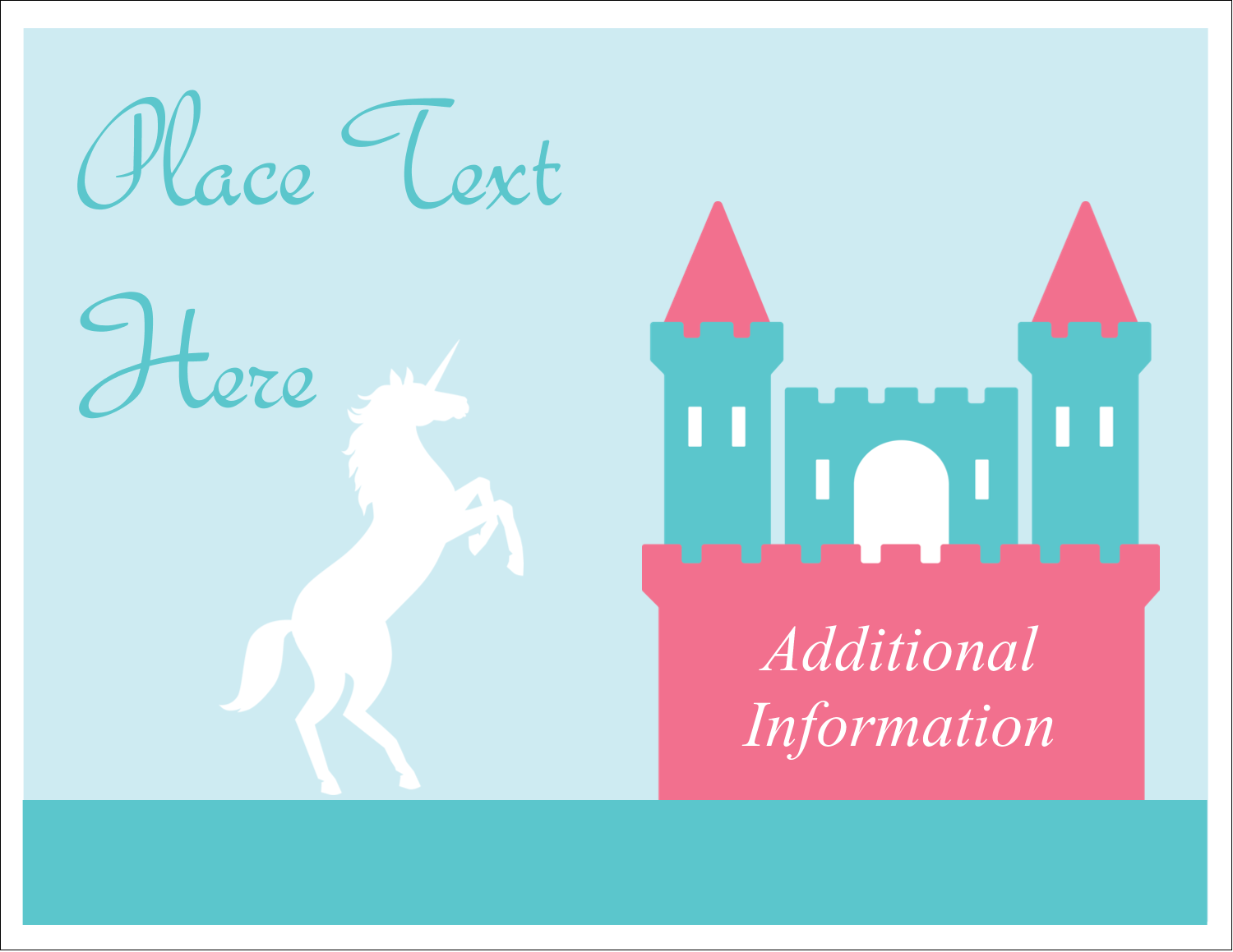 "5½"" x 4¼"" Note Card - Castle"