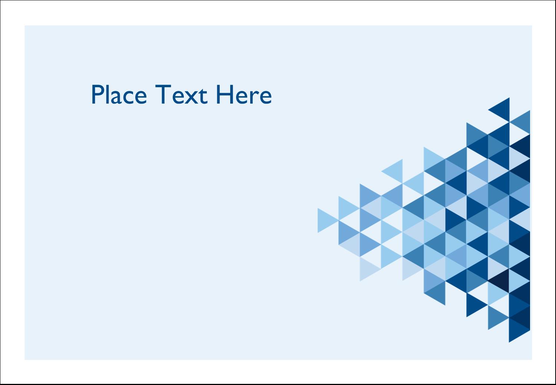 "3⅜"" x 2⅓"" Name Badge - Blue Angles"