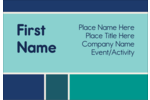 Basic pre-designed colour Block templates work well for a variety of customized projects.