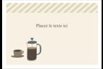 L'heure du café Étiquettes à codage couleur - gabarit prédéfini. <br/>Utilisez notre logiciel Avery Design & Print Online pour personnaliser facilement la conception.