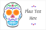 Make custom projects more memorable with pre-designed Day of the Dead Skull templates.