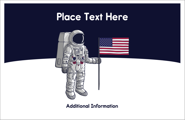 "5½"" x 8½"" Greeting Card - Astronaut"