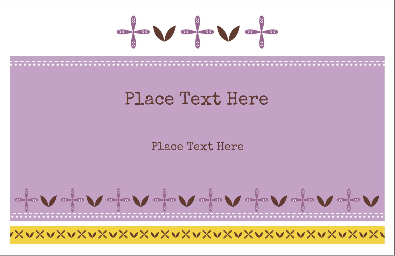 "5½"" x 8½"" Greeting Card - Geometric Lavender Blossoms"